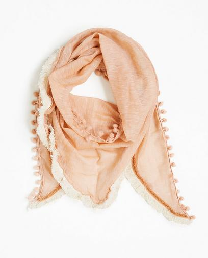 Sjaal met pomponnetjes